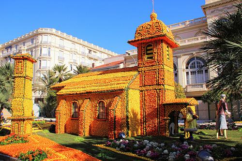 The lemon-festival in Menton
