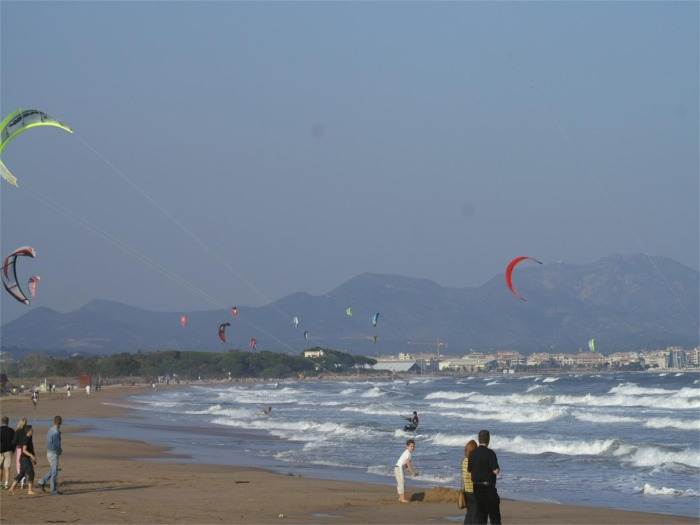 kite-surf on Frejus beach