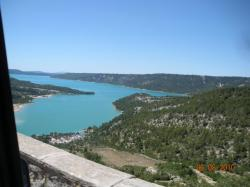 The lake of Sainte-Croix, from Moustier-Sainte-Marie