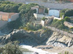 I photograph this view of the beach from villa martinache