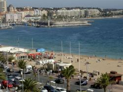 Fréjus beach, by ski-line, it's St Raphael port